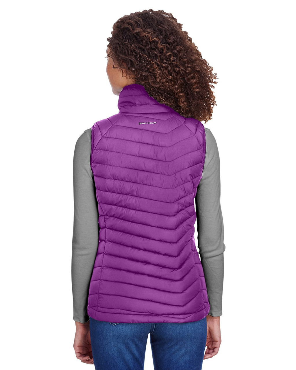 Wild Iris - Back, 1757411 Columbia Ladies' Powder Lite Vest | BlankClothing.ca