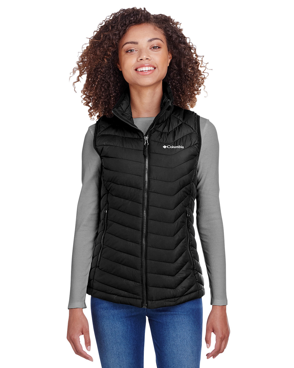 Black - 1757411 Columbia Ladies' Powder Lite Vest | BlankClothing.ca