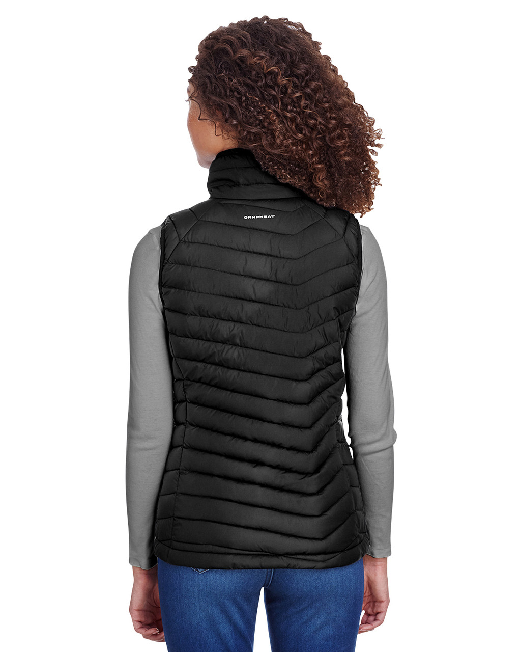 Black, Back - 1757411 Columbia Ladies' Powder Lite Vest | BlankClothing.ca