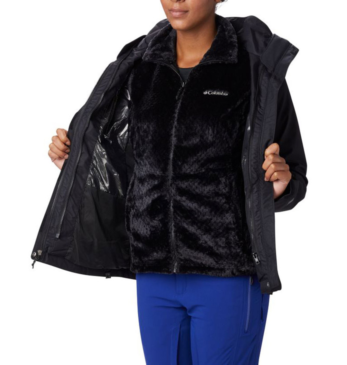Black - 1799241 Columbia Ladies' Bugaboo™ II Fleece Interchange Jacket | BlankClothing.ca