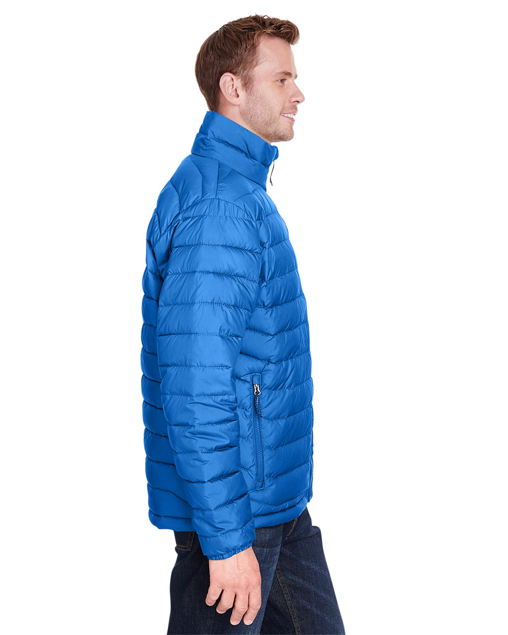 Azure Blue - Side, 1698001 Columbia Men's Powder Lite™ Jacket | Blankclothing.ca