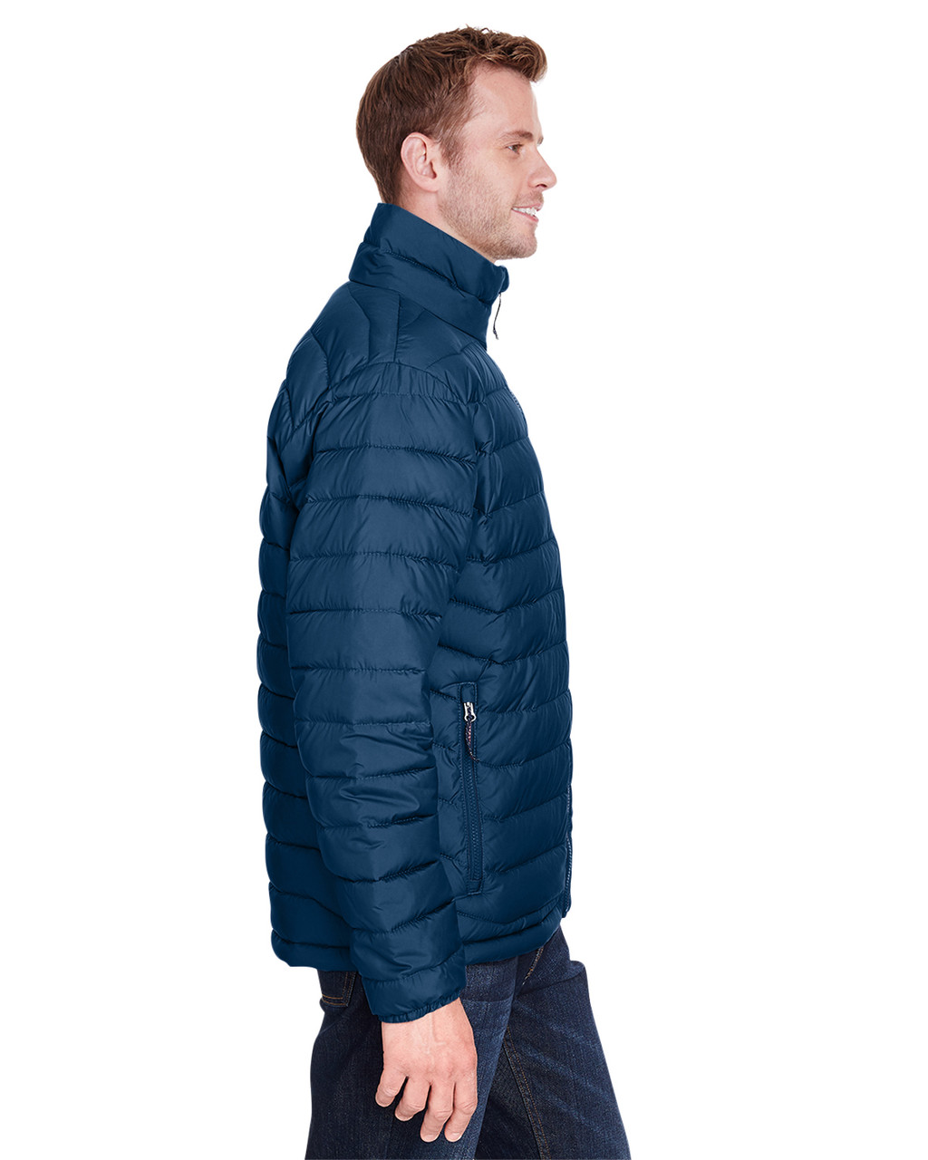Collegiate Navy - Side, 1698001 Columbia Men's Powder Lite™ Jacket | Blankclothing.ca