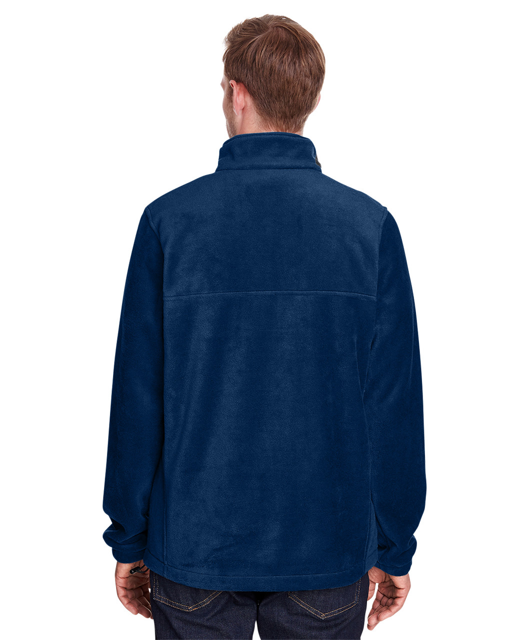 Collegiate Navy - Back, 1620191 Columbia Men's ST-Shirts Mountain™ Half-Zip Fleece Jacket | Blankclothing.ca