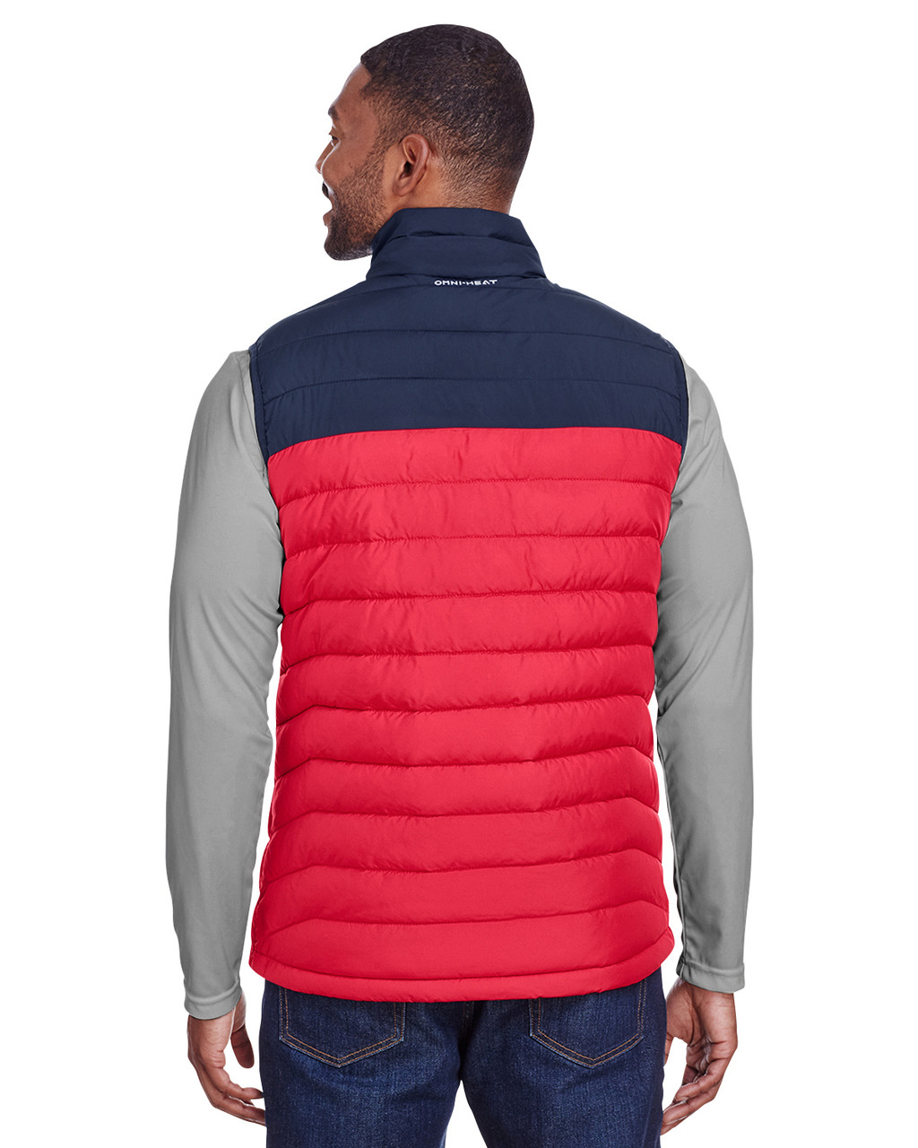 Mountain Red/Columbia Navy - Back, 1748031 Columbia Men's Powder Lite™ Vest | Blankclothing.ca