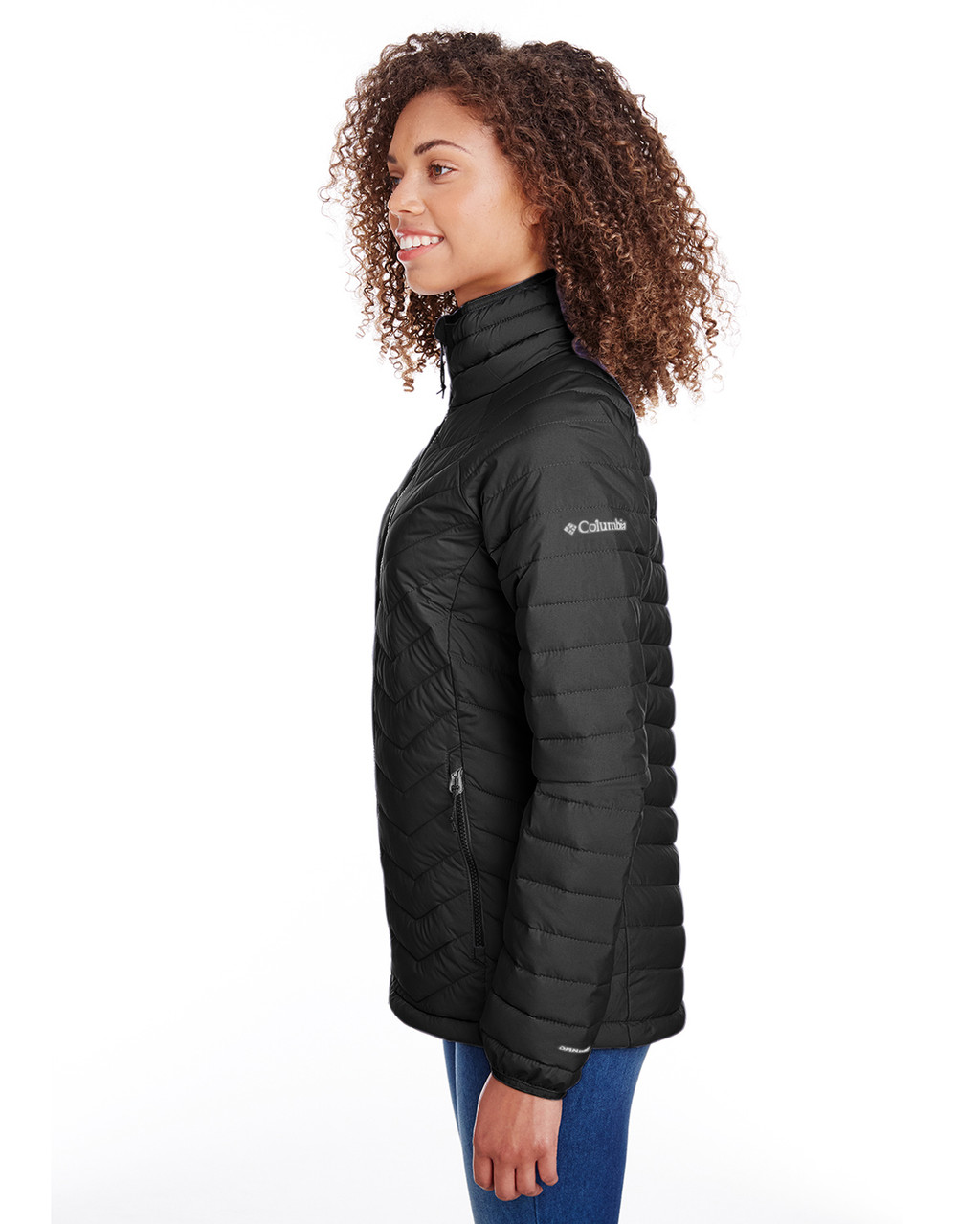 Black - Side, 1699061 Columbia Ladies' Powder Lite™ Jacket | Blankclothing.ca