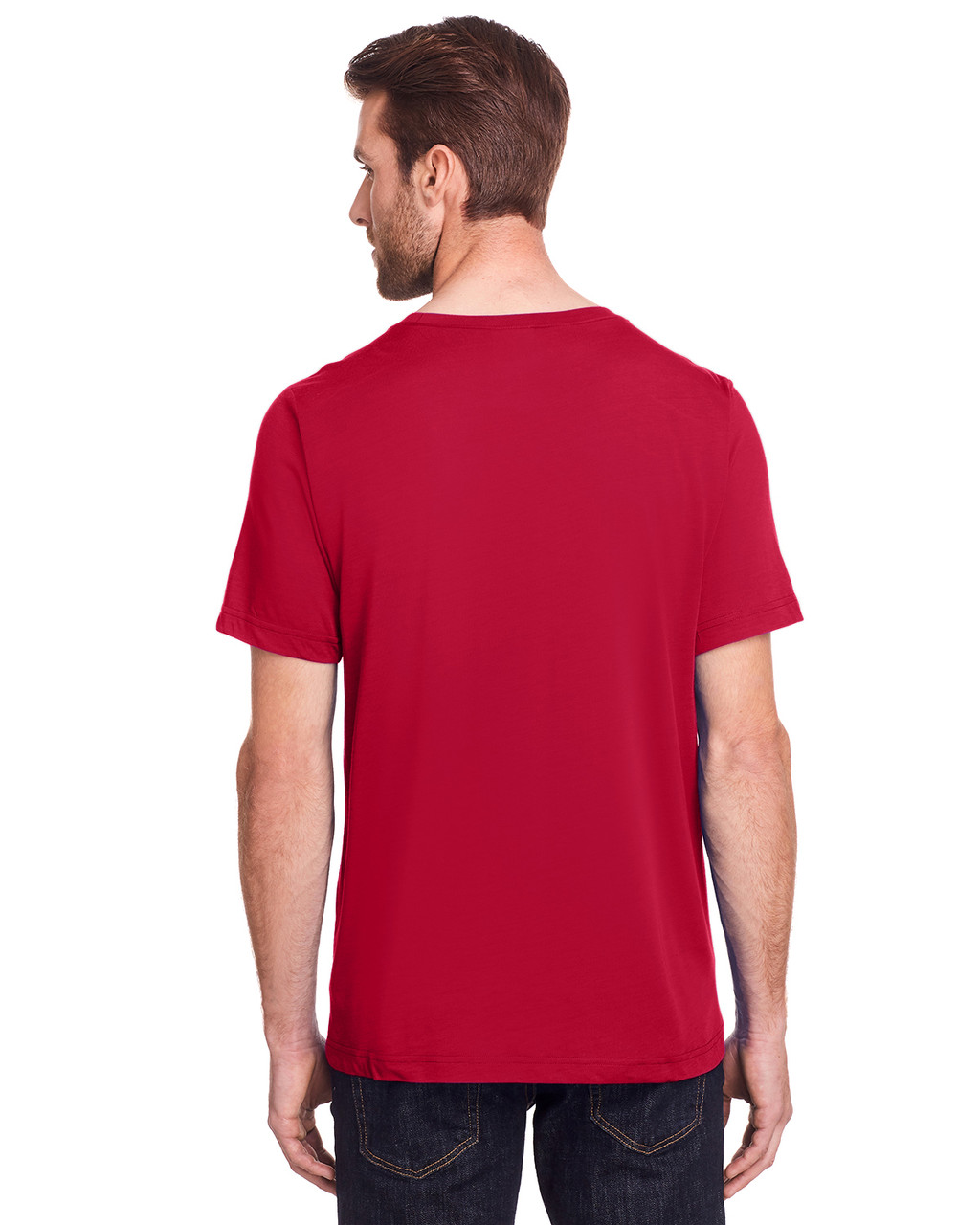 Classic Red - Back, CE111 Core 365 Adult Fusion ChromaSoft Performance T-Shirt | BlankClothing.ca