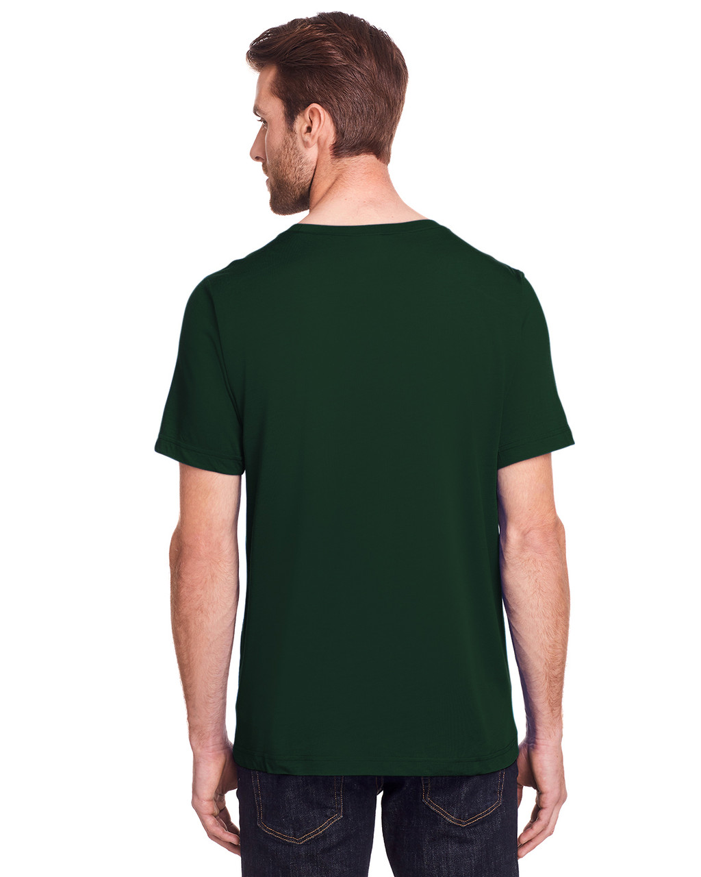 Forest - Back, CE111 Core 365 Adult Fusion ChromaSoft Performance T-Shirt | BlankClothing.ca