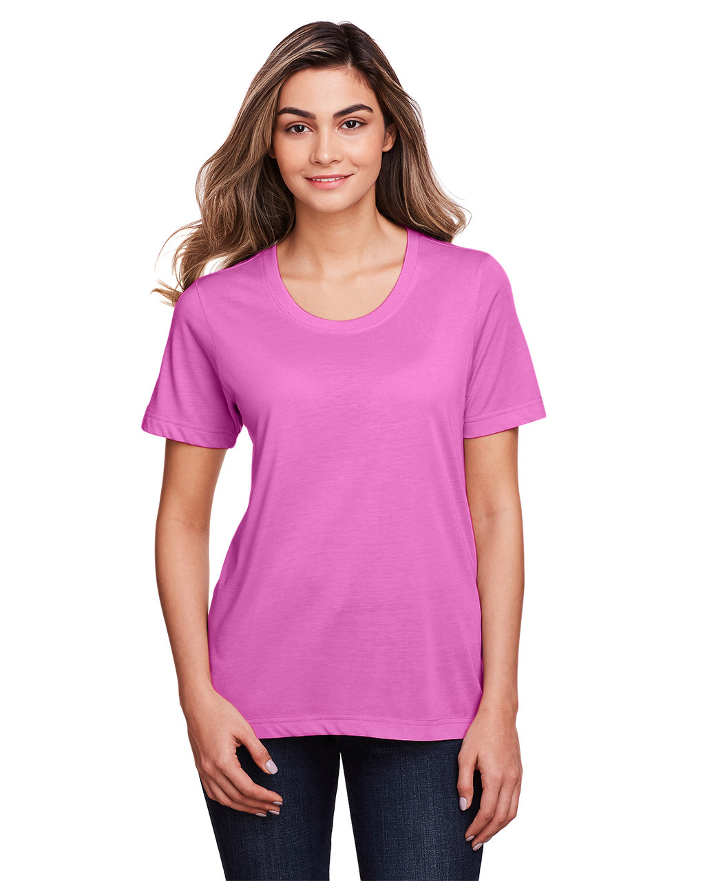 Charity Pink - CE111W Core 365 Ladies' Fusion ChromaSoft™ Performance T-Shirt | BlankClothing.ca