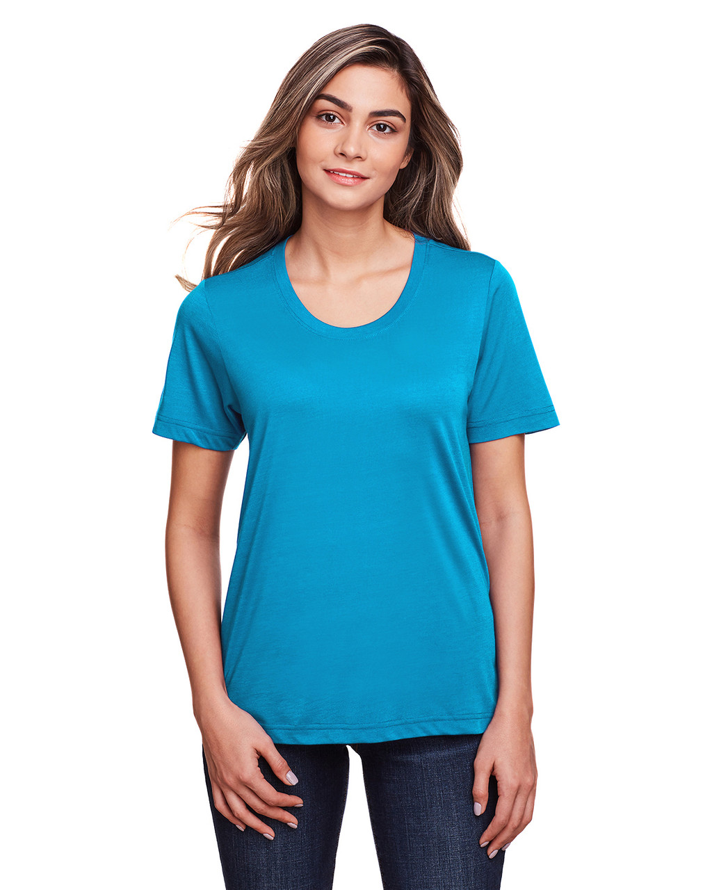 Electric Blue - CE111W Core 365 Ladies' Fusion ChromaSoft™ Performance T-Shirt | BlankClothing.ca
