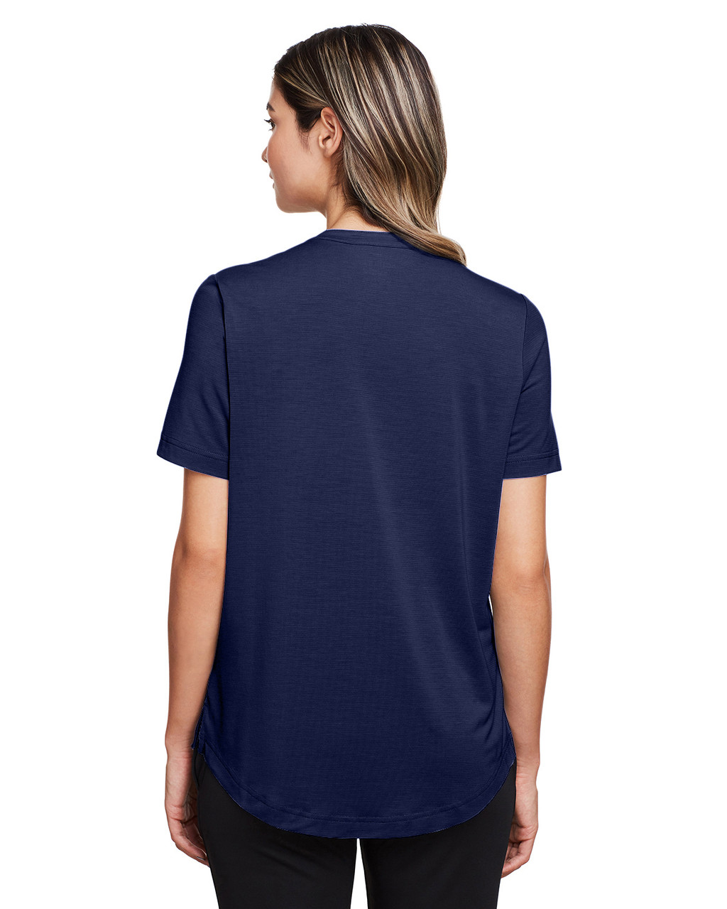 Classic Navy - Back, NE100W North End Ladies' Jaq Snap-Up Stretch Performance Polo | BlankClothing.ca