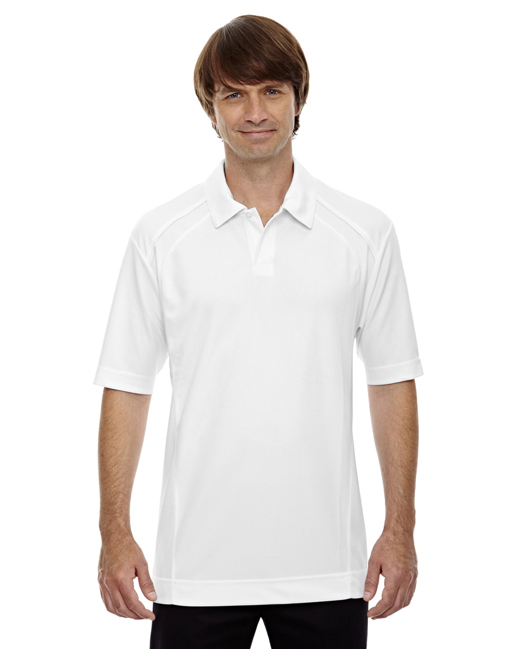 White - 88632 North End Men's Recycled Polyester Performance Pique Polo Shirt   Blankclothing.ca