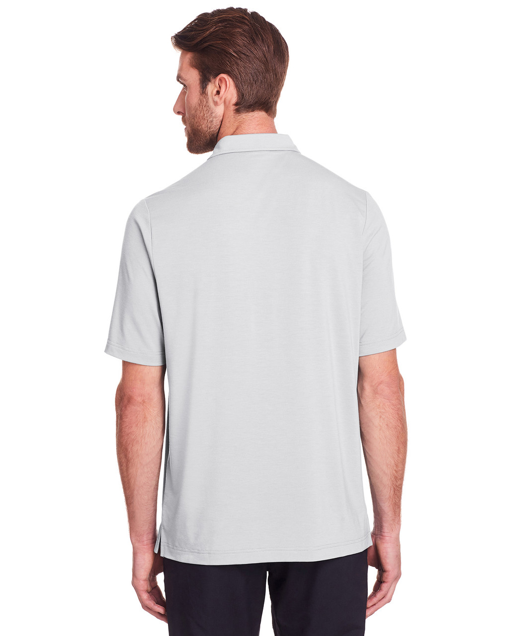 Platinum - Back, NE100 North End Men's Jaq Snap-Up Stretch Performance Polo | BlankClothing.ca