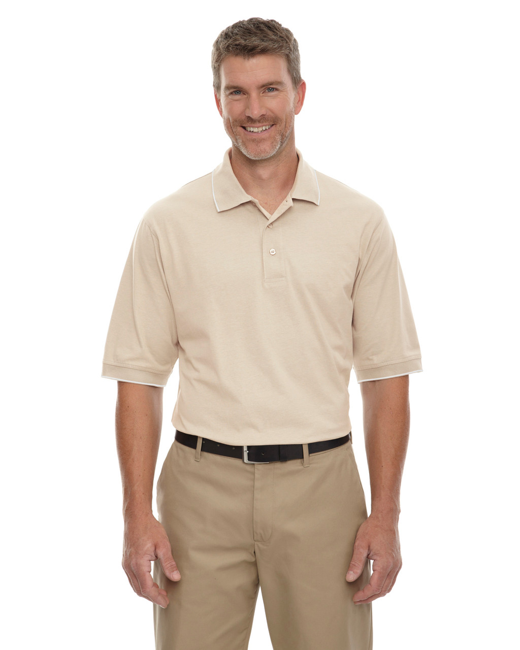 Sand - 85032 Extreme Men's Cotton Jersey Polo | BlankClothing.ca