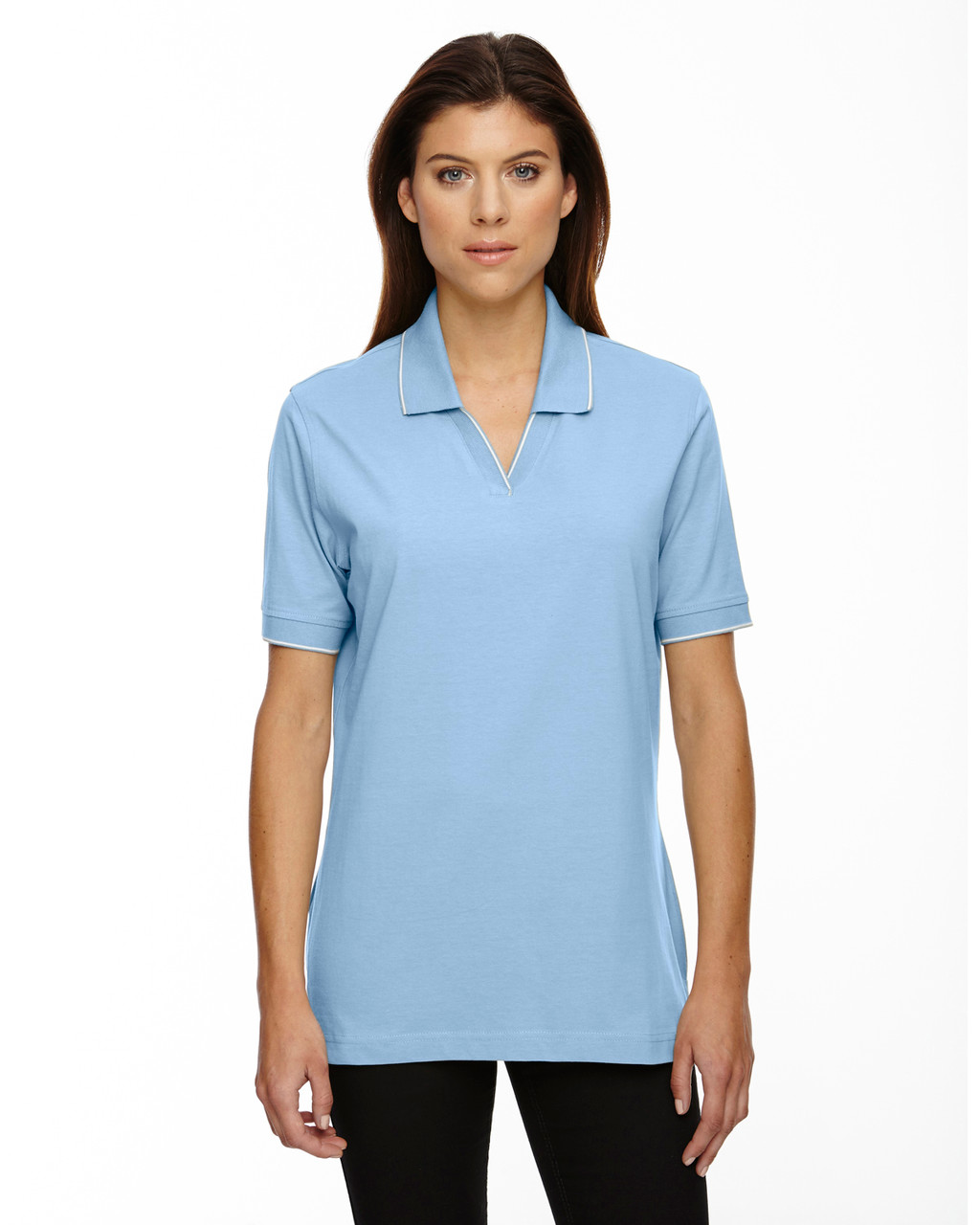 Powder Blue - 75009 Extreme Ladies' Cotton Jersey Polo | BlankClothing.ca