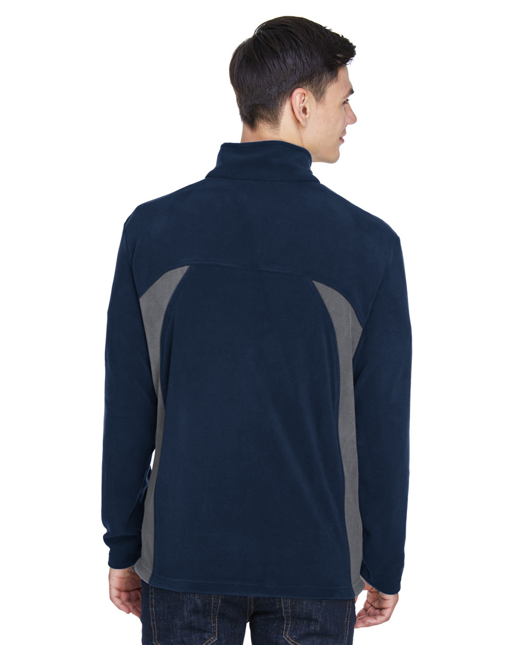 Midnight Navy - Back, 88123 North End Men's Microfleece Jacket | BlankClothing.ca