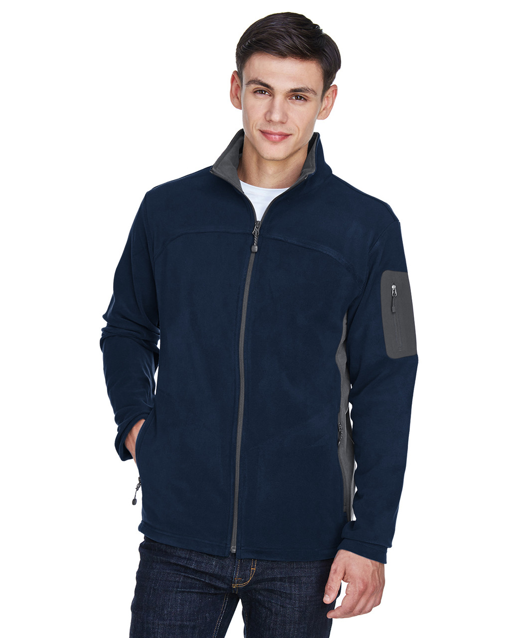 Midnight Navy - 88123 North End Men's Microfleece Jacket | BlankClothing.ca