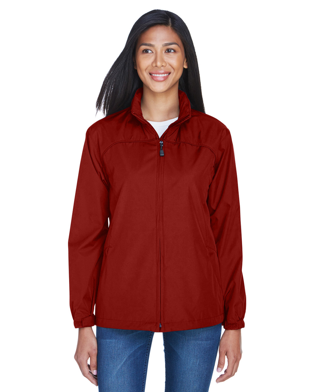 Molten Red - 78032 North End Ladies' Techno Lite Jacket | BlankClothing.ca