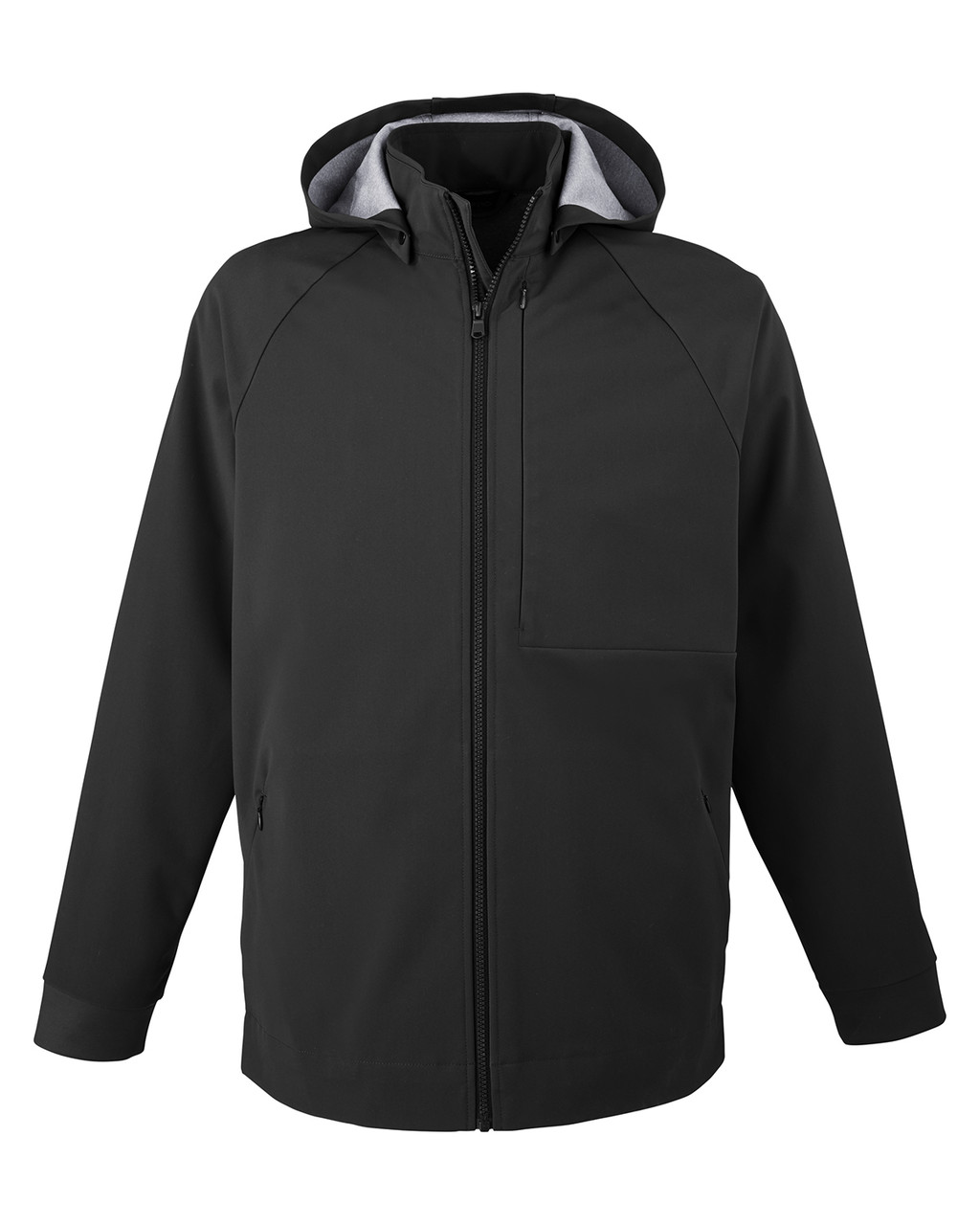 Black - NE718 North End Men's City Hybrid Shell Jacket| BlankClothing.ca