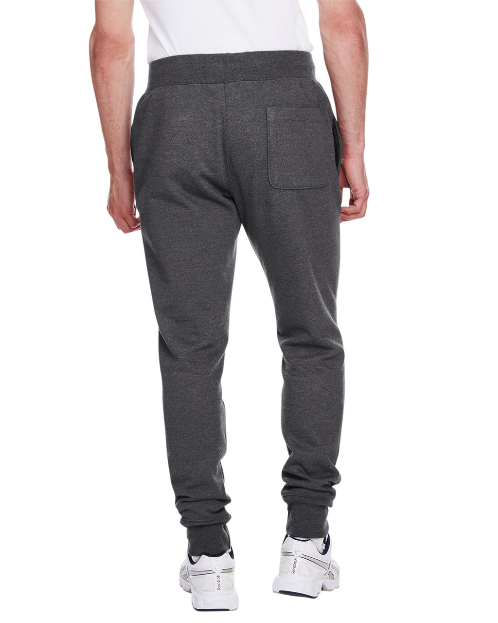 Charcoal Heather - Back, RW25 Champion Men's Reverse Weave Jogger Pant | BlankClothing.ca