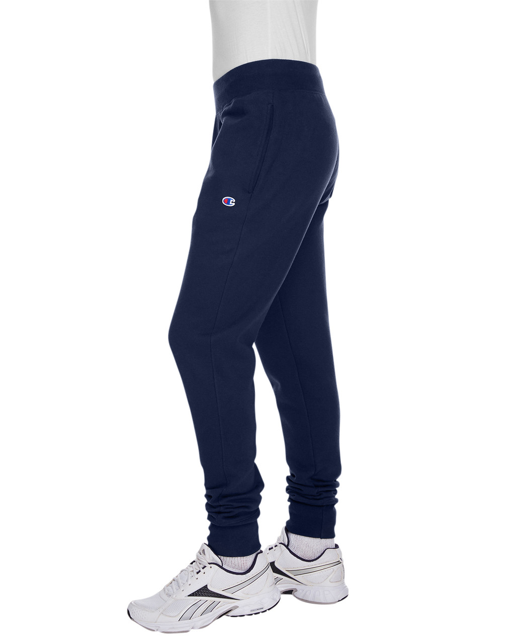 Navy - Side, RW25 Champion Men's Reverse Weave Jogger Pant | BlankClothing.ca