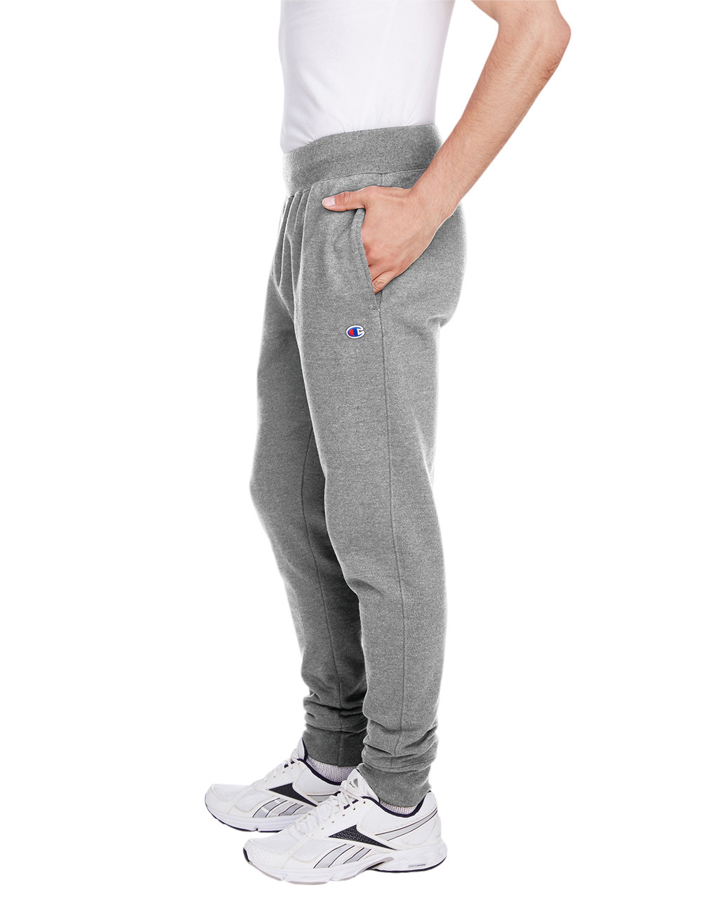 Oxford Grey - Side, RW25 Champion Men's Reverse Weave Jogger Pant | BlankClothing.ca