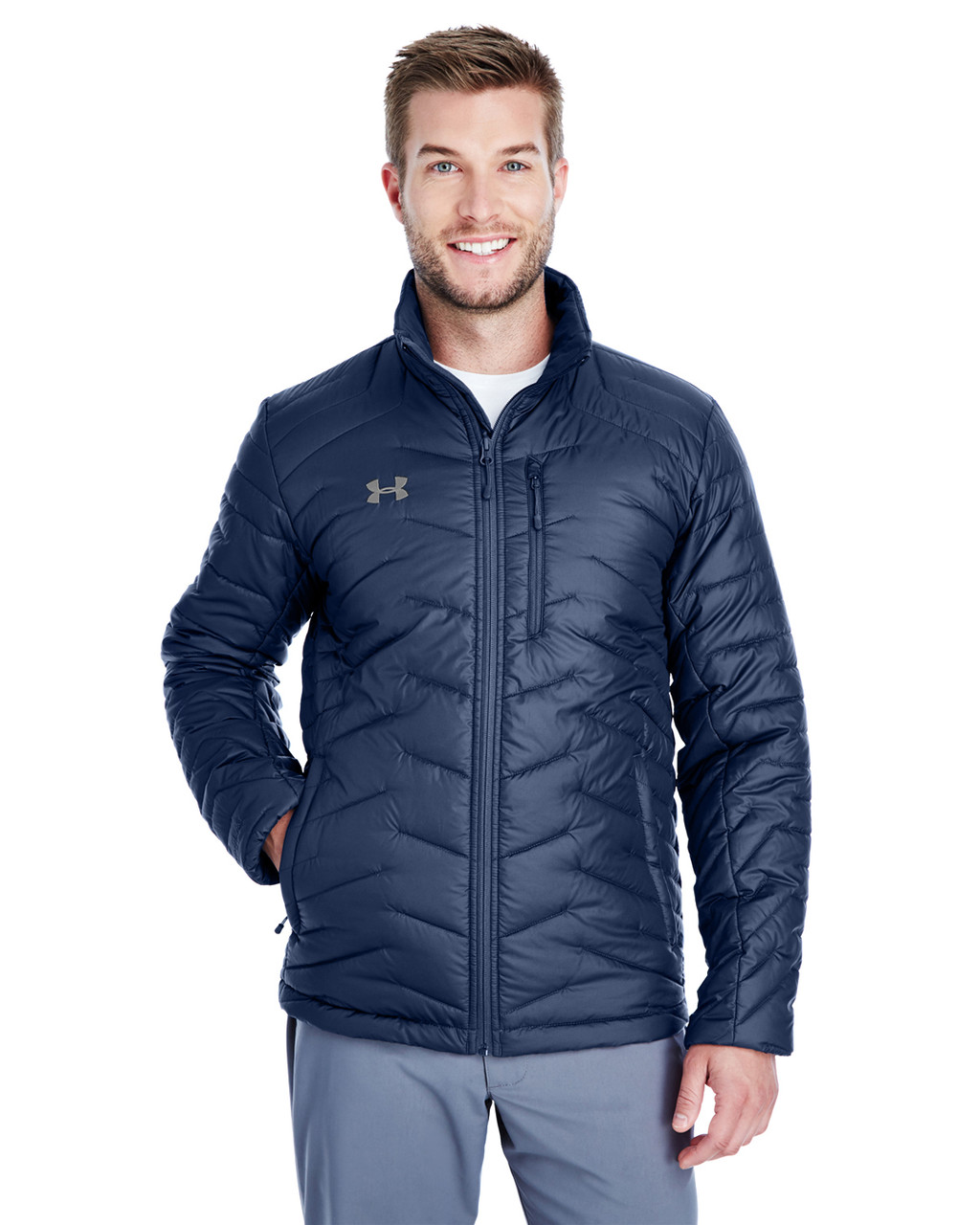 Midnight Navy/ Steel - 1317223 Under Armour SuperSale Men's Corporate Reactor Jacket | BlankClothing.ca