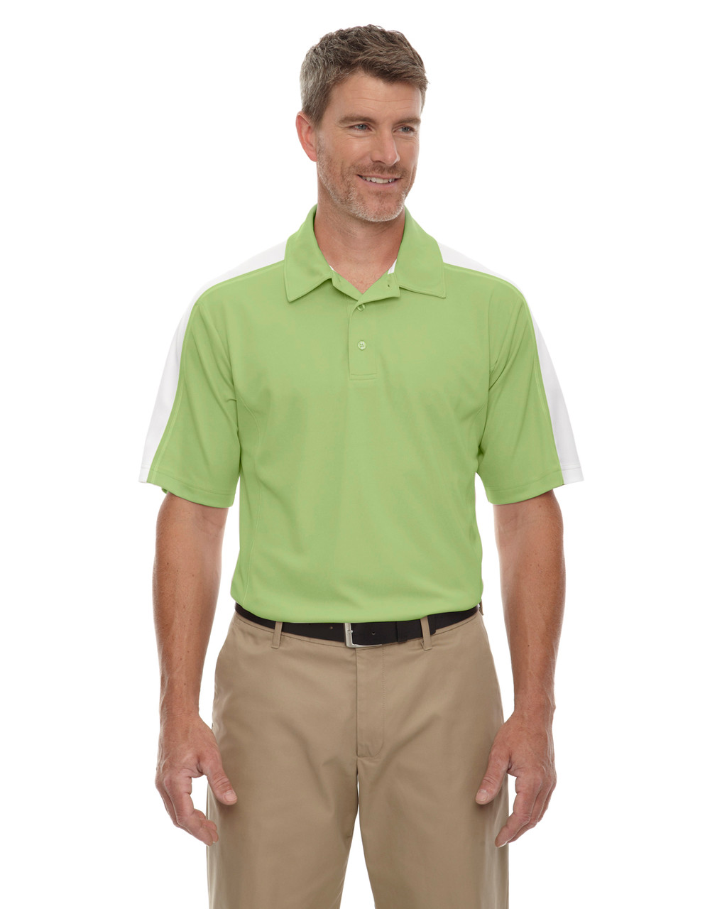 Fairway Green - 85089 Extreme Men's Eperformance Pique Color-Block Polo Shirt | BlankClothing.ca