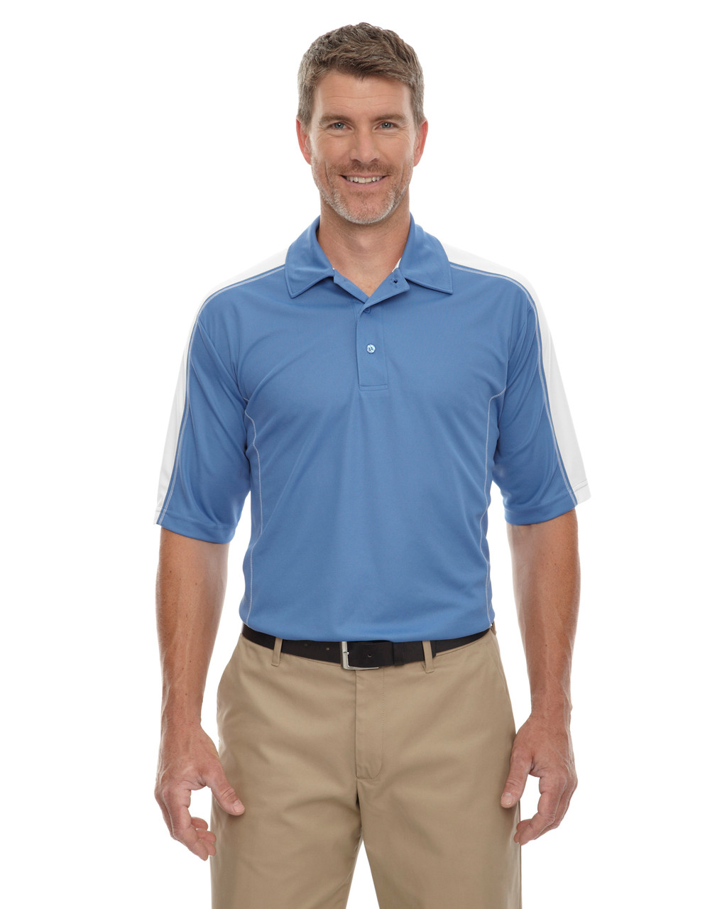 Lake Blue - 85089 Extreme Men's Eperformance Pique Color-Block Polo Shirt | BlankClothing.ca