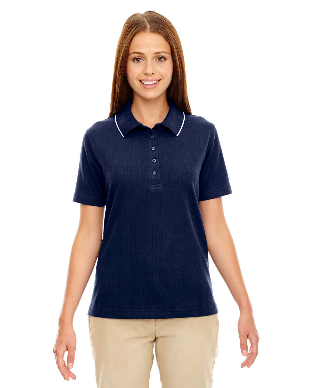 Classic Navy - 75045 Extreme Ladies' Edry™ Needle Out Interlock Polo Shirt | BlankClothing.ca