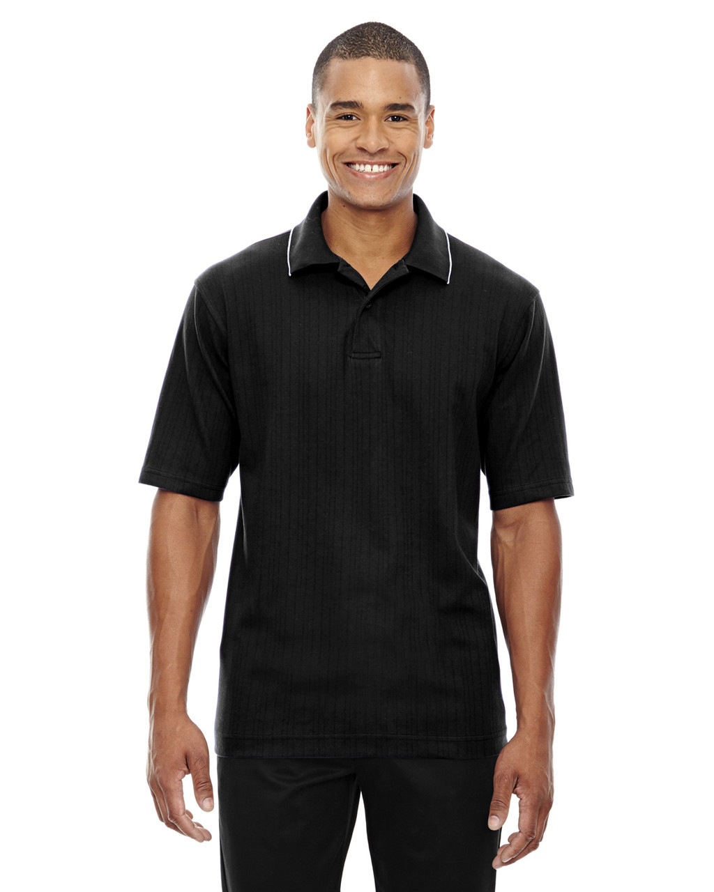 Black - 85067 Extreme Men's Edry™ Needle Out Interlock Polo Shirt | BlankClothing.ca