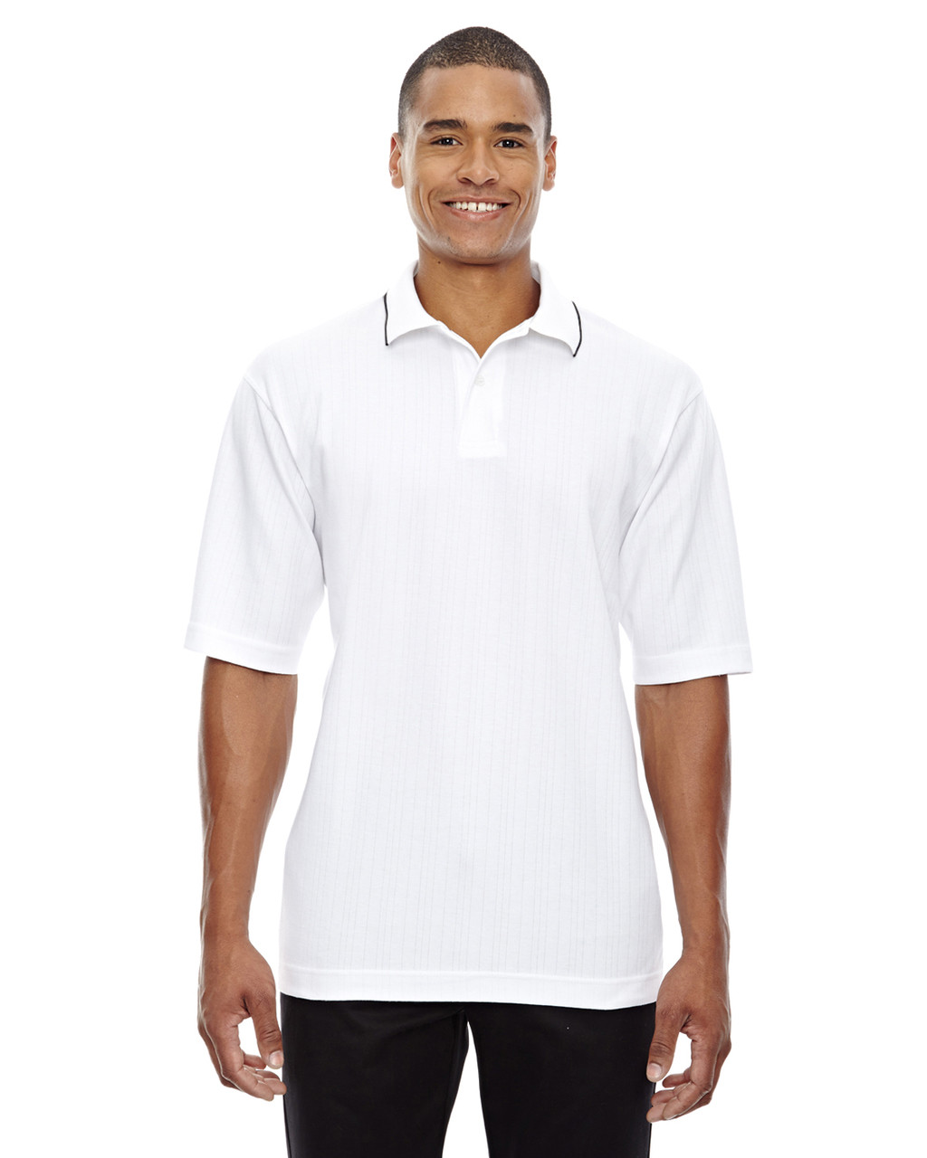 White - 85067 Extreme Men's Edry™ Needle Out Interlock Polo Shirt | BlankClothing.ca