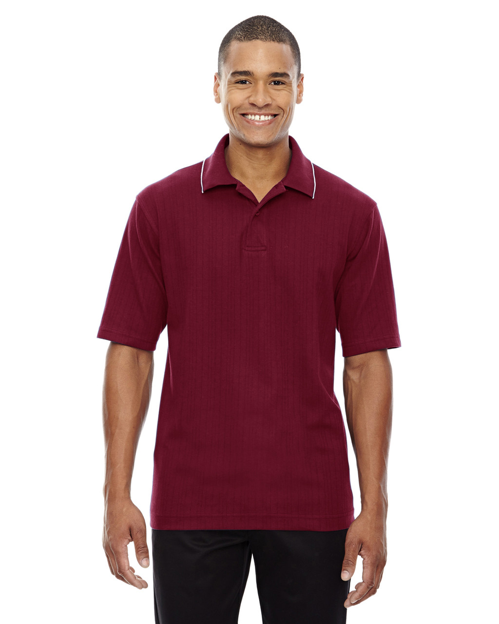 Crimson - 85067 Extreme Men's Edry™ Needle Out Interlock Polo Shirt | BlankClothing.ca