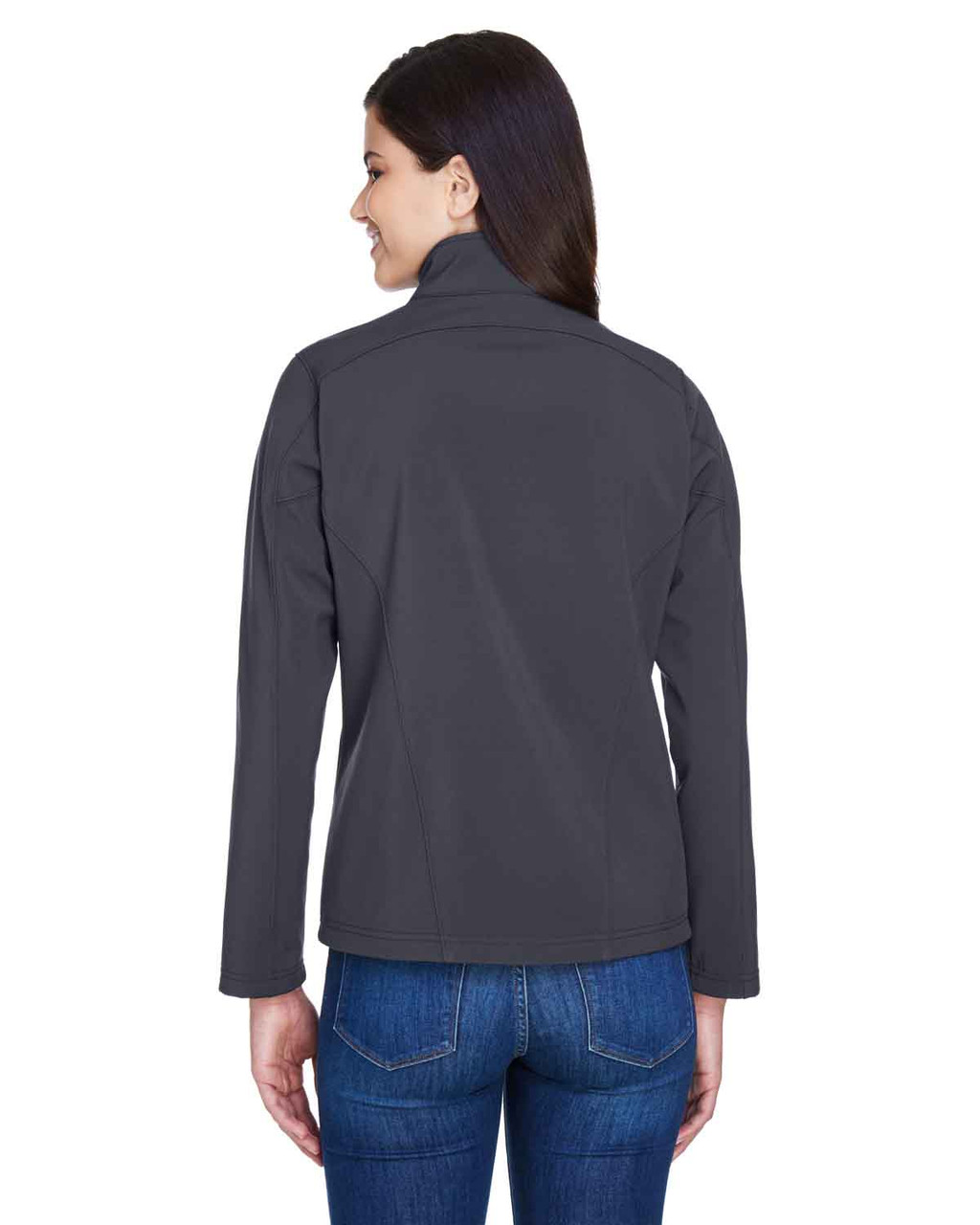 Carbon - Back, 78184 Core 365 Ladies' Fleece Soft Shell Jacket | Blankclothing.ca