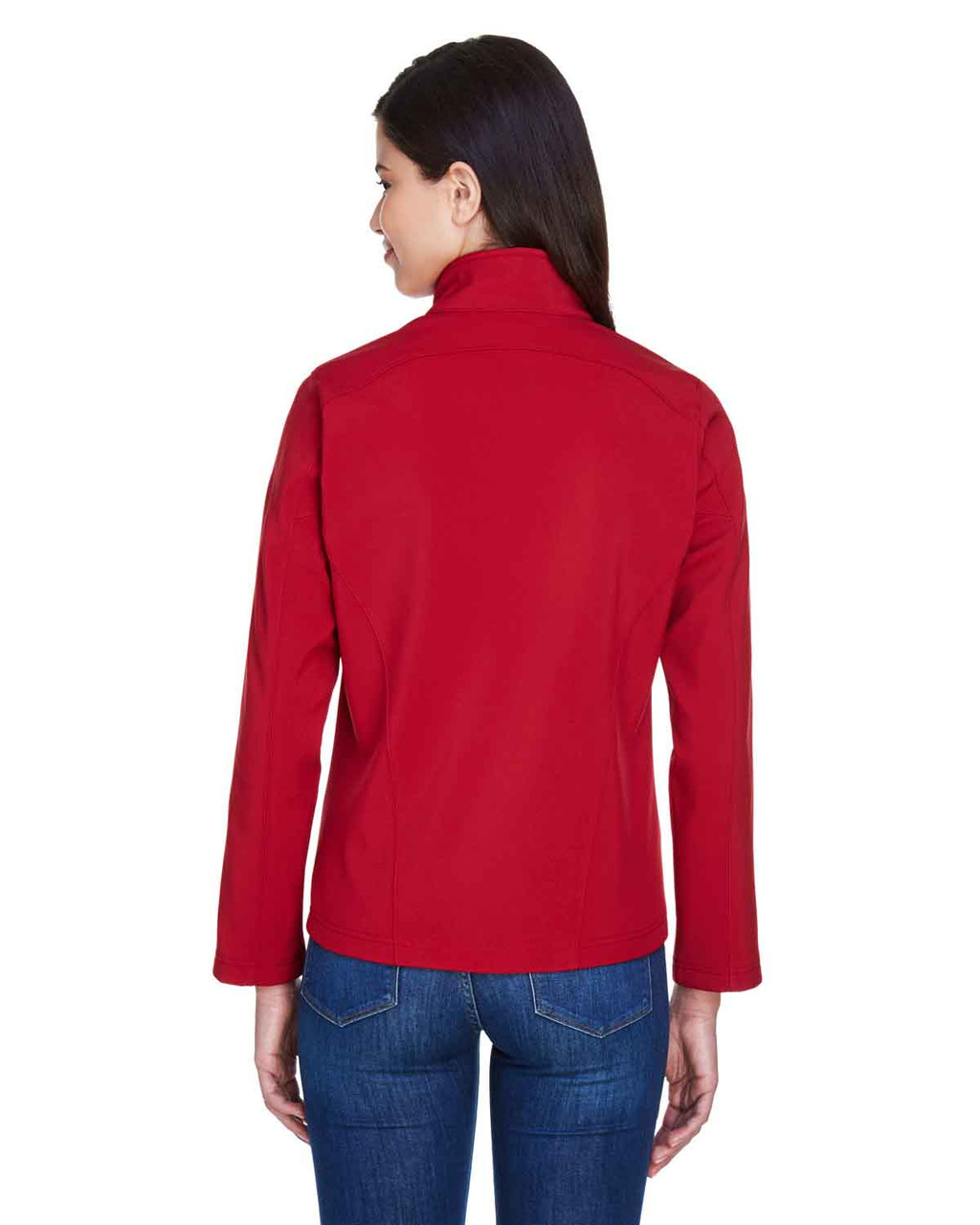 Classic Red - Back, 78184 Core 365 Ladies' Fleece Soft Shell Jacket | Blankclothing.ca