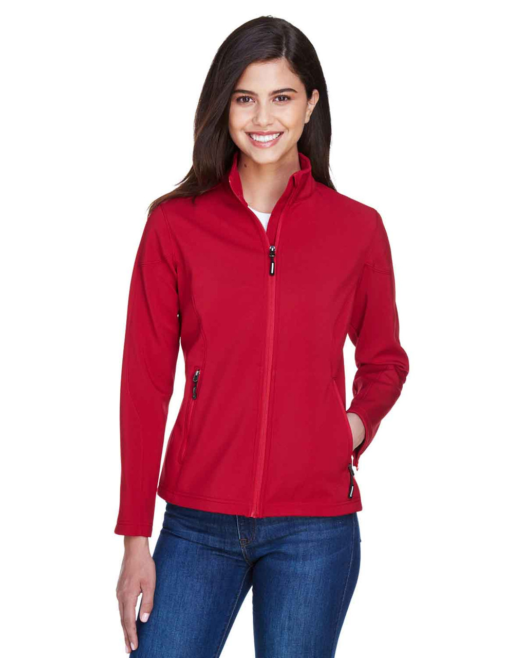 Classic Red - 78184 Core 365 Ladies' Fleece Soft Shell Jacket | Blankclothing.ca