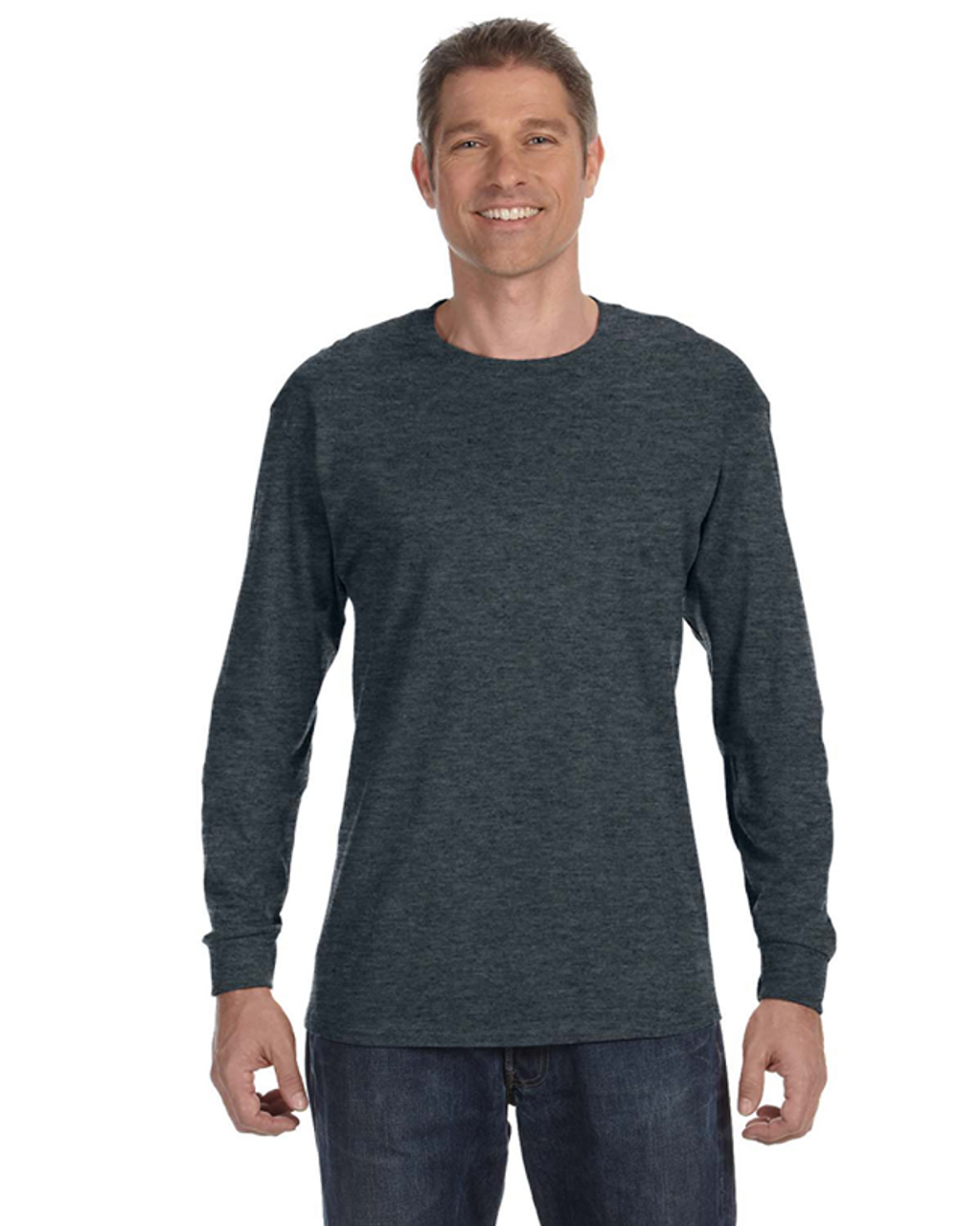 Black Heather - 29L Jerzees Long Sleeve T-shirt