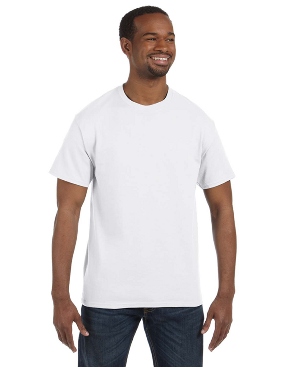 White - 29M Jerzees 50/50 Heavyweight Blend™ T-Shirt | Blankclothing.ca