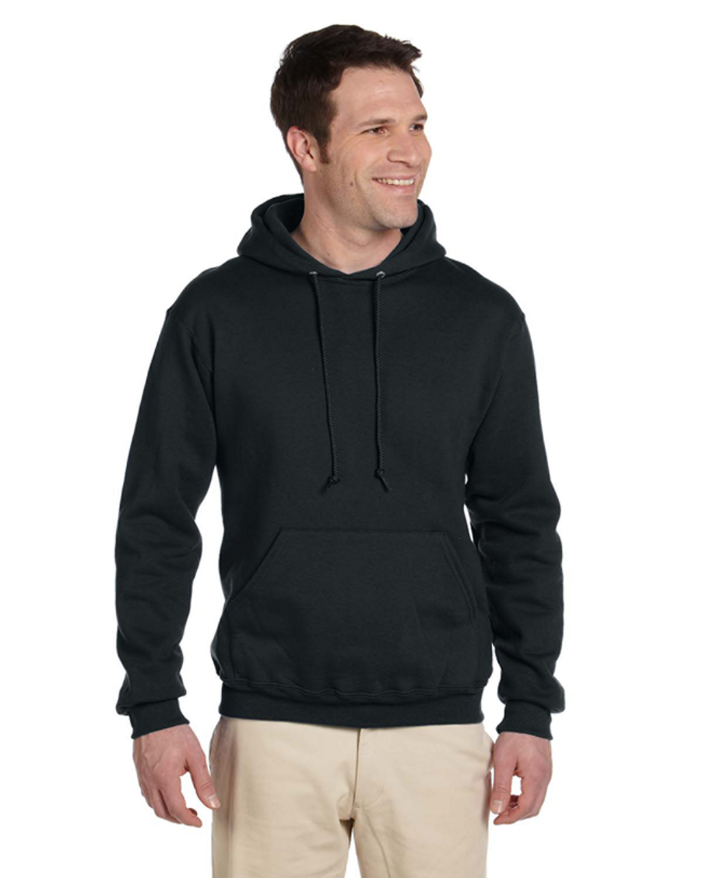 Black  4997 Jerzees 50/50 Super Sweats® NuBlend® Fleece Pullover Hoodie | Blankclothing.ca