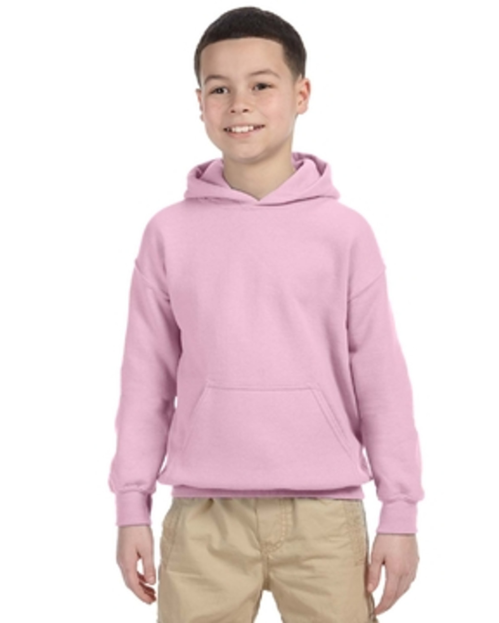 Light Pink - G185B Gildan Heavy Blend Youth 50/50 Hoodie | Blankclothing.ca