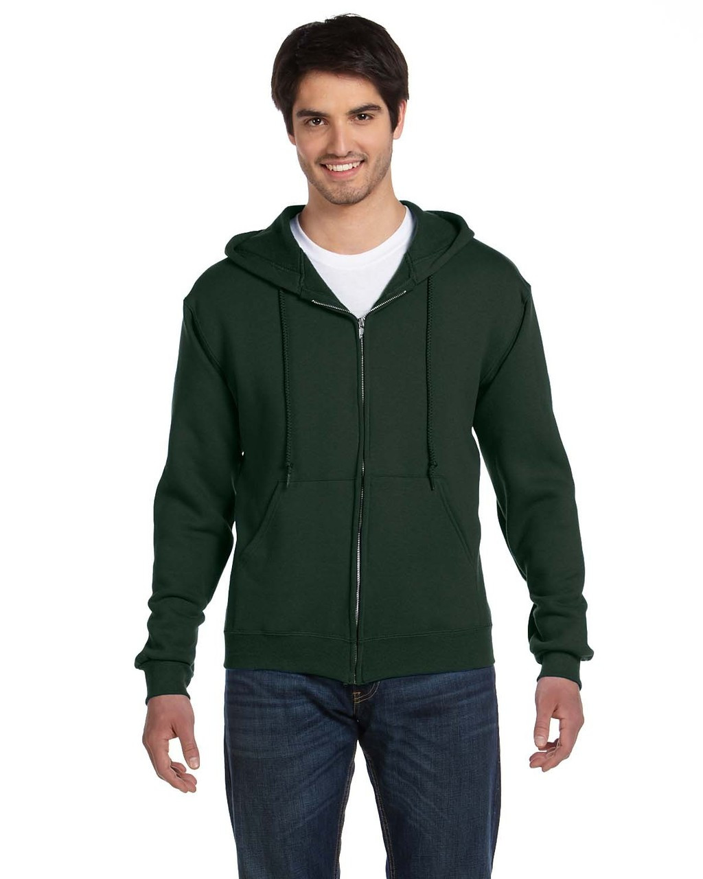 Forest Green - 82230 Fruit of the Loom Supercotton™ Full-Zip Hoodie | Blankclothing.ca