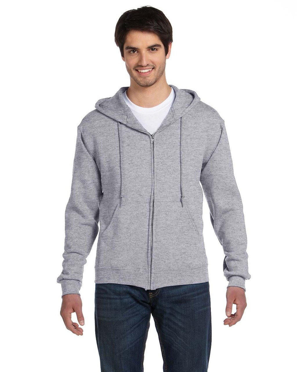 Athletic Heather - 82230 Fruit of the Loom Supercotton™ Full-Zip Hoodie | Blankclothing.ca