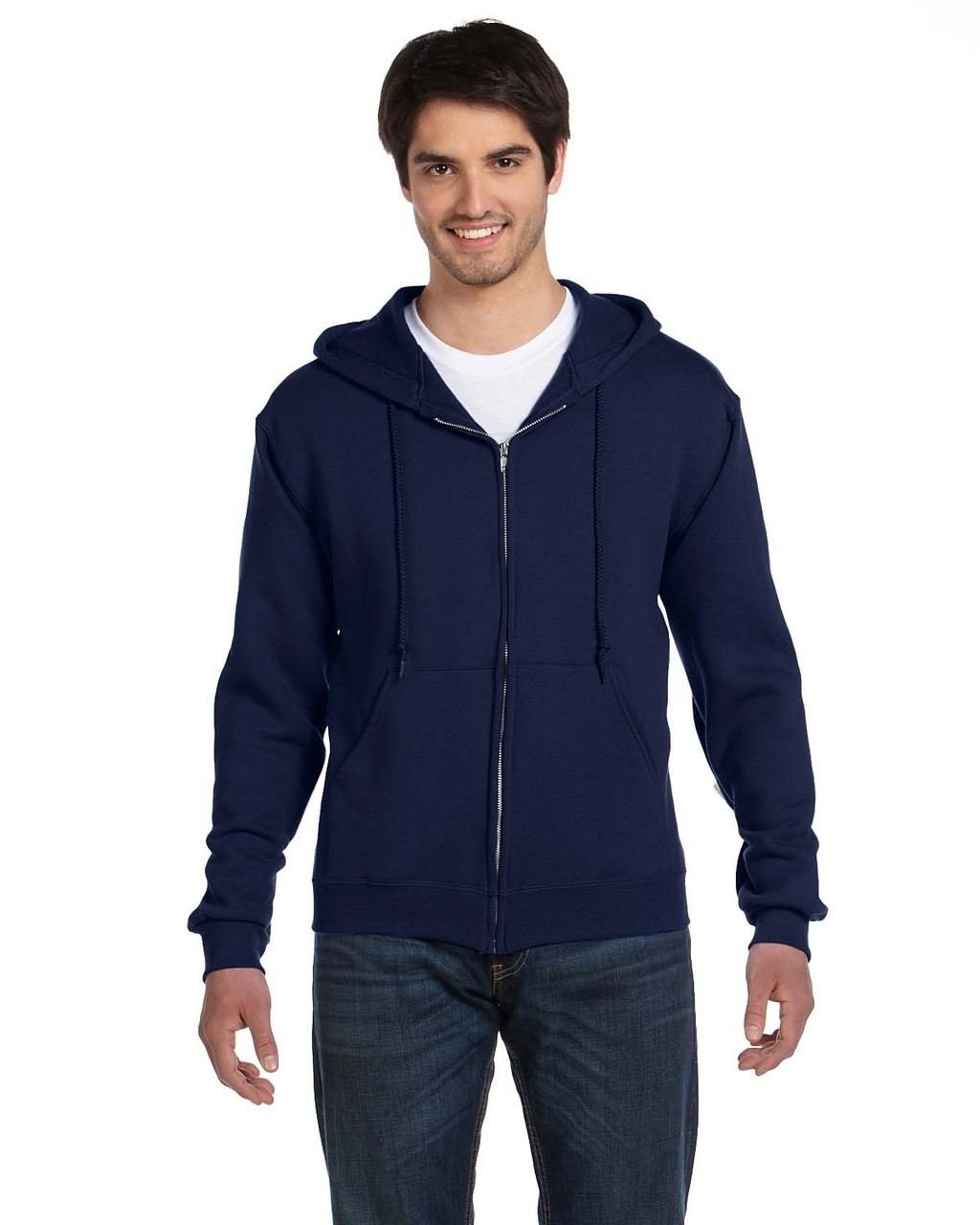 J. Navy - 82230 Fruit of the Loom Supercotton™ Full-Zip Hoodie | Blankclothing.ca
