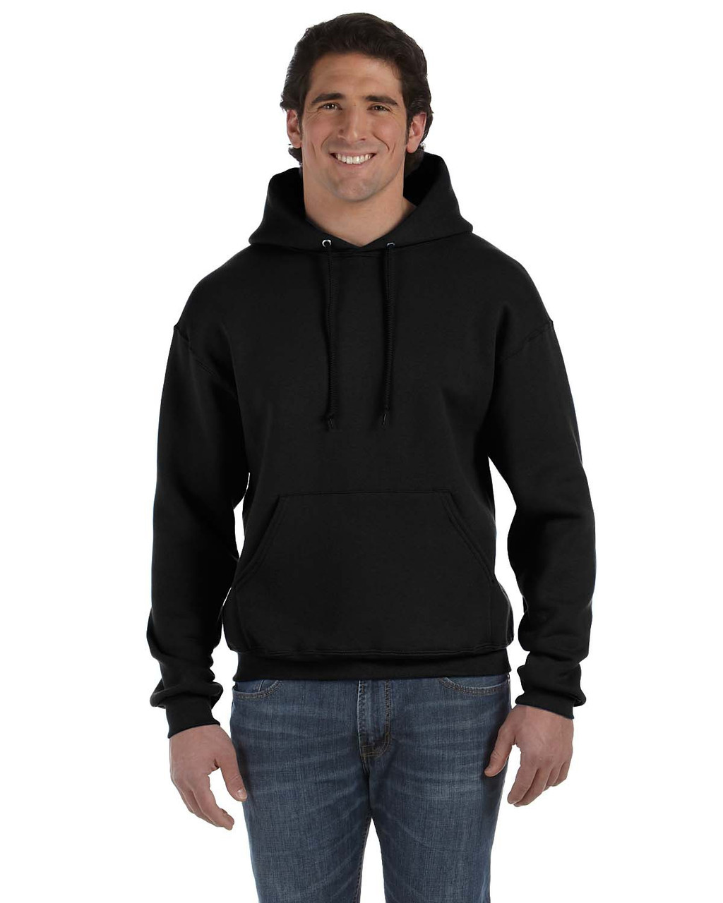 Black - 82130 Fruit of the Loom Supercotton™ Pullover Hoodie | Blankclothing.ca