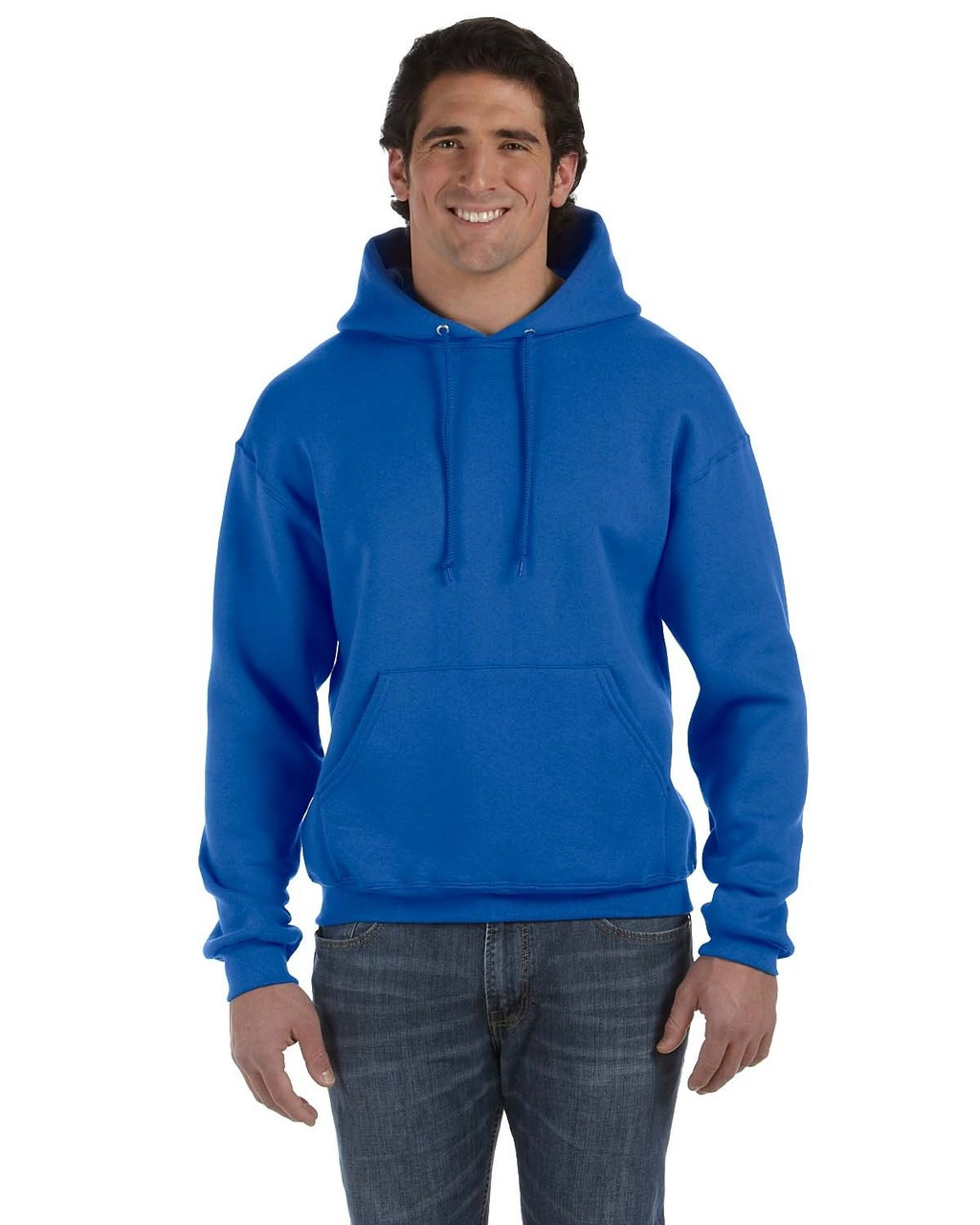 Royal - 82130 Fruit of the Loom Supercotton™ Pullover Hoodie | Blankclothing.ca