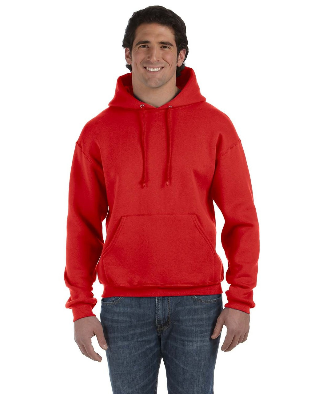 True Red - 82130 Fruit of the Loom Supercotton™ Pullover Hoodie | Blankclothing.ca