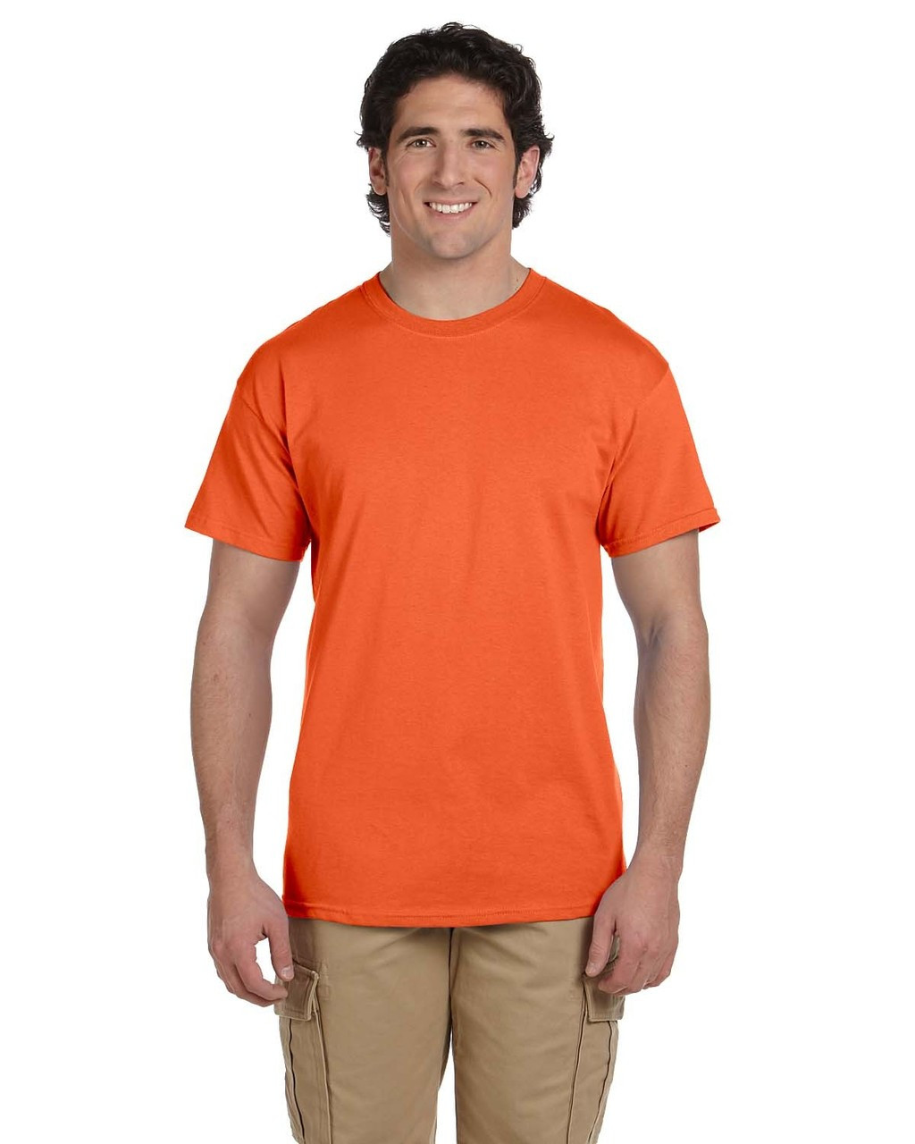 Burnt Orange - 3931 Fruit of the Loom 100% Heavy Cotton HD® T-Shirt | Blankclothing.ca