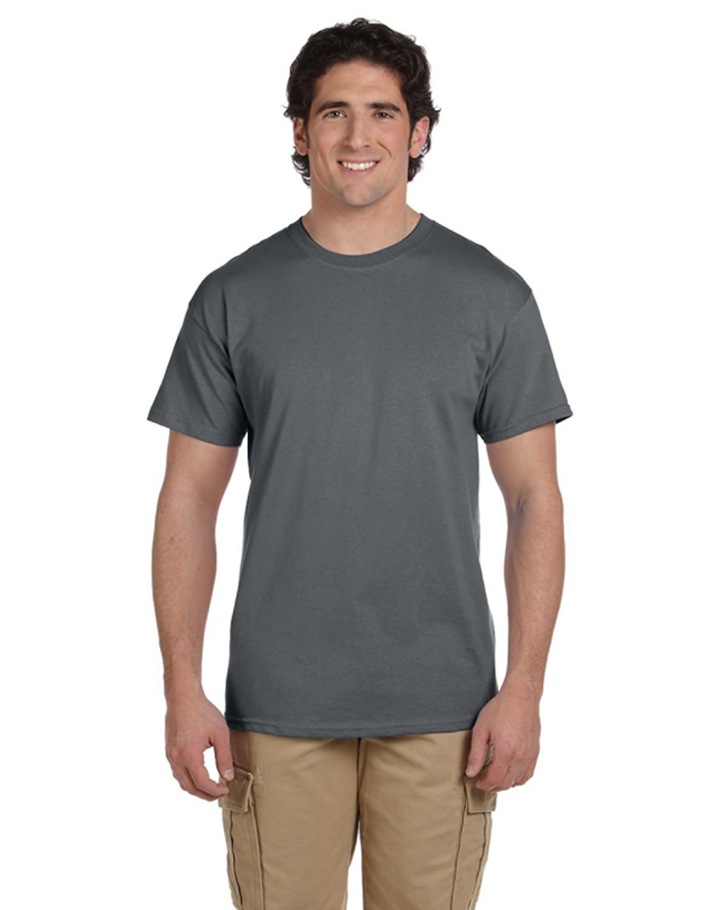 Charcoal Grey - 3931 Fruit of the Loom 100% Heavy Cotton HD® T-Shirt | Blankclothing.ca