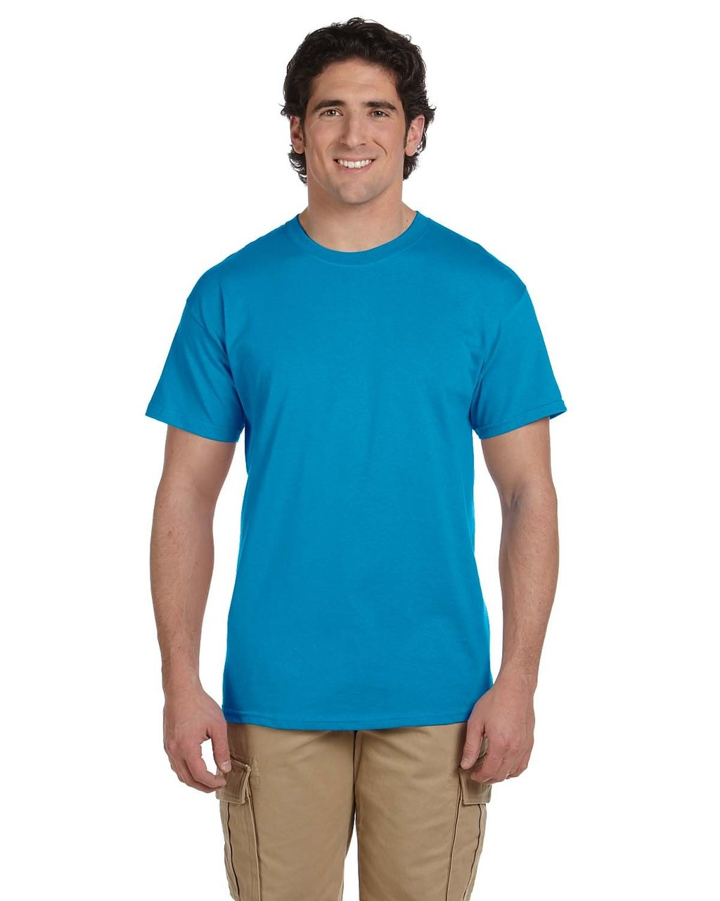Pacific Blue - 3931 Fruit of the Loom 100% Heavy Cotton HD® T-Shirt | Blankclothing.ca