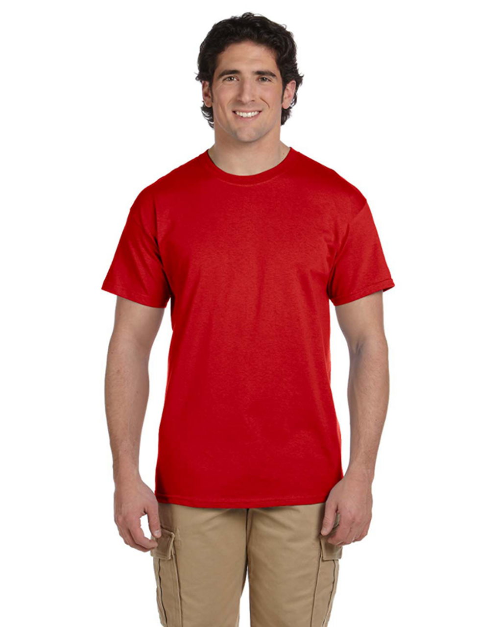 True Red - 3931 Fruit of the Loom 100% Heavy Cotton HD® T-Shirt | Blankclothing.ca