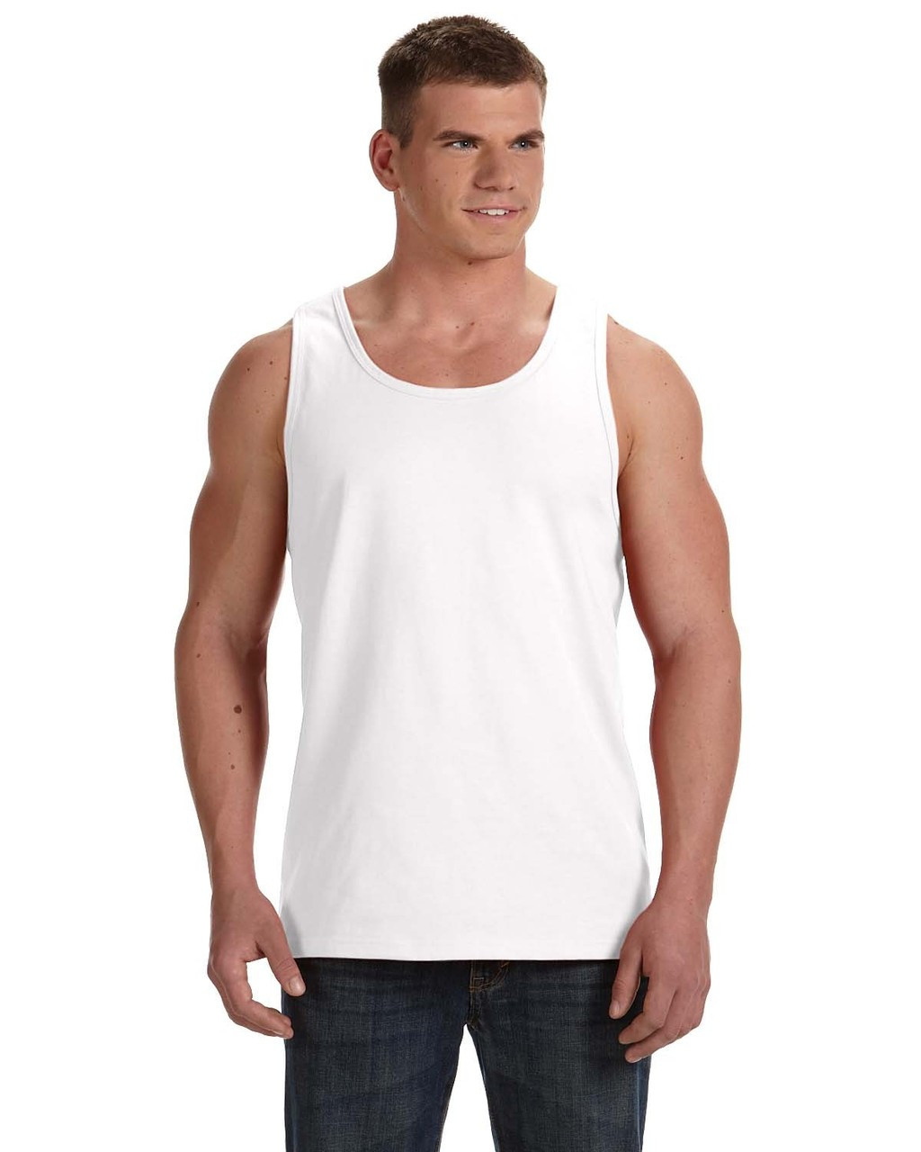 White 39TKR Fruit of the Loom 100% Heavy Cotton HD® Tank Top | Blankclothing.ca